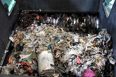 Проект предварительной обработки дробления муниципальных отходов перед сжиганием