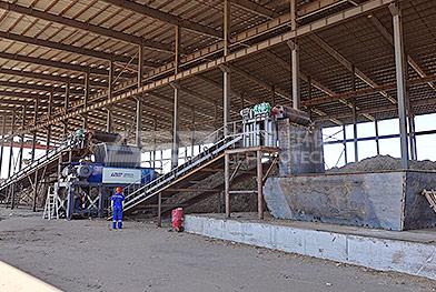 Линия по переработке кукурузной соломы в северо-восточном Китае