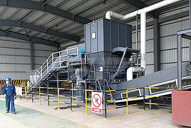 Проект системы оборудования для измельчения и обработки крупных промышленных отходов